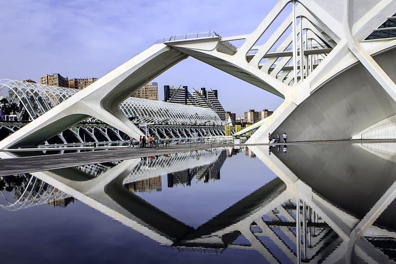 Les Ciencies di Ciutat de les Arts i immagine stock