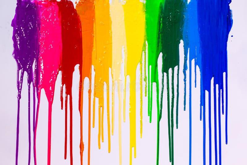 les cilors d'arc-en-ciel de couleurs d'impression d'écran s'égouttent photos libres de droits