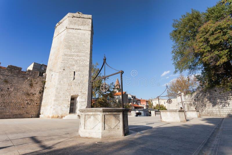 Les cinq puits antiques de Zadar photographie stock libre de droits