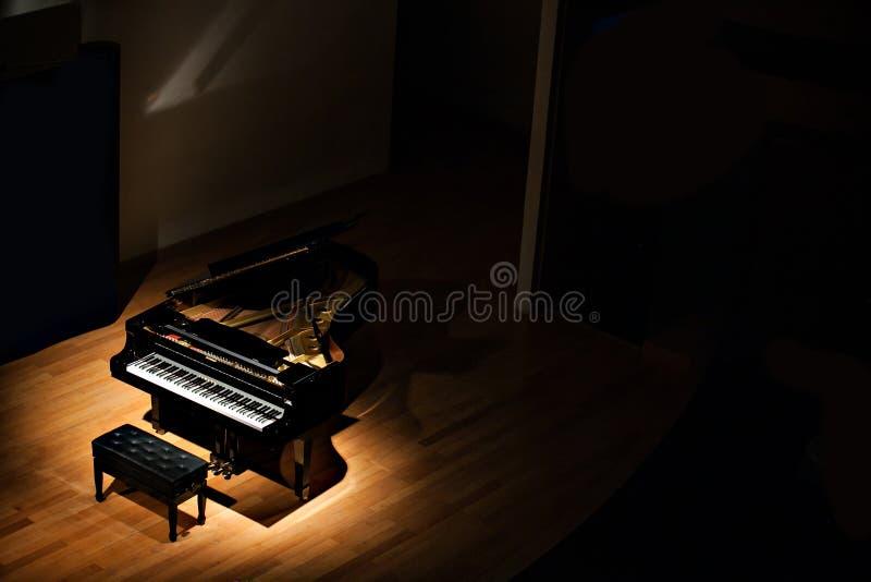 Les clés d'instrument de clavier de musique de piano jouent la clé saine noire musicale jouant l'antiquité classique grande de pi photos libres de droits