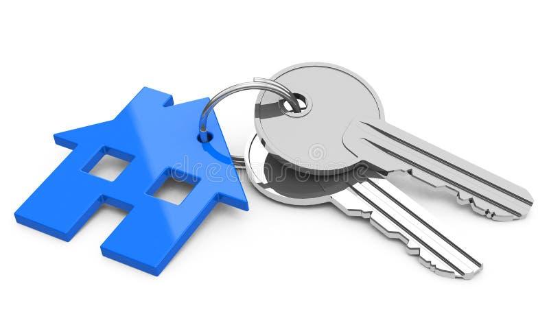 Les clés de maison illustration de vecteur
