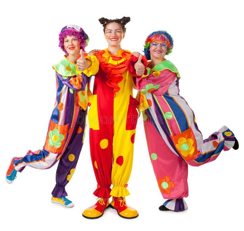 Les clowns effectuent l'amusement images libres de droits