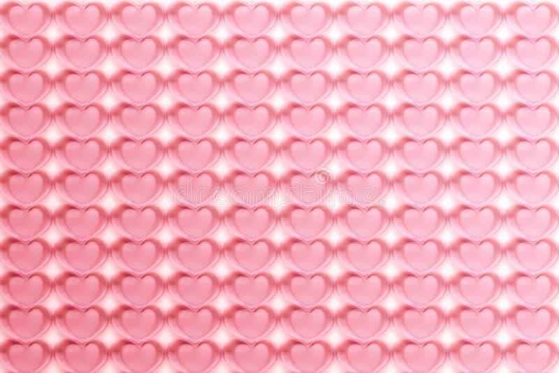 Les coeurs abstraits modèlent le fond dans le rose - pastel et vintage illustration stock