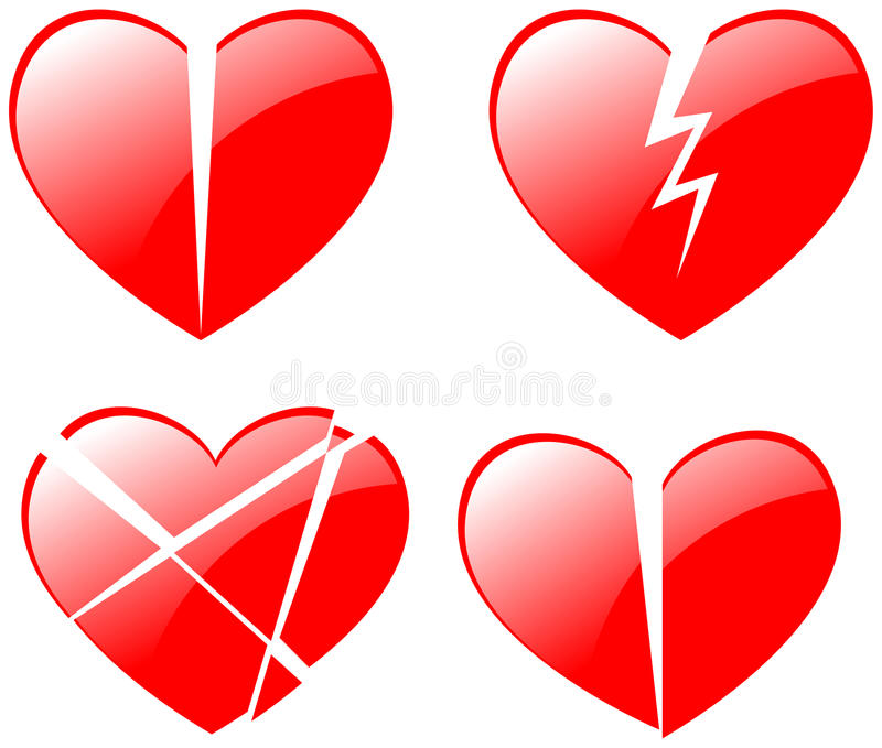 Les coeurs brisés illustration stock