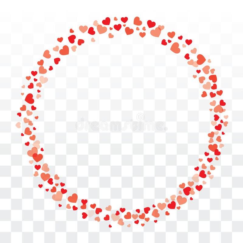 Les coeurs de valentines tressent sur le fond transparent avec la station thermale de copie illustration de vecteur