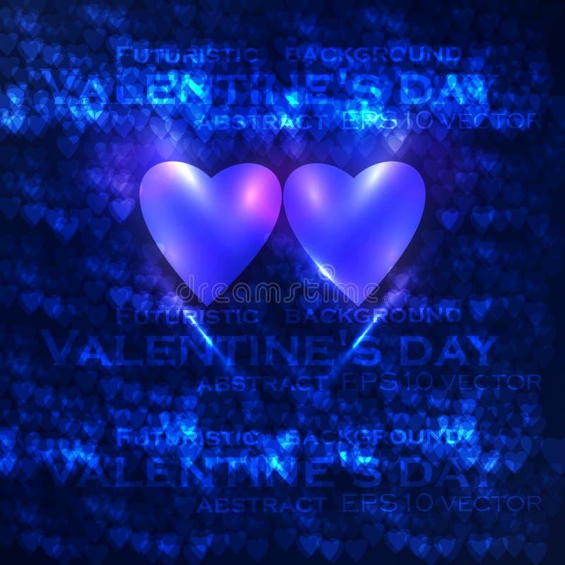 Les coeurs du valentine de vecteur illustration de vecteur