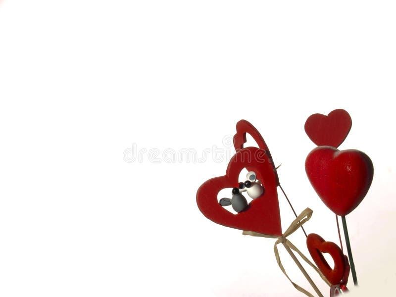 Les coeurs rouges de Valentine photographie stock libre de droits