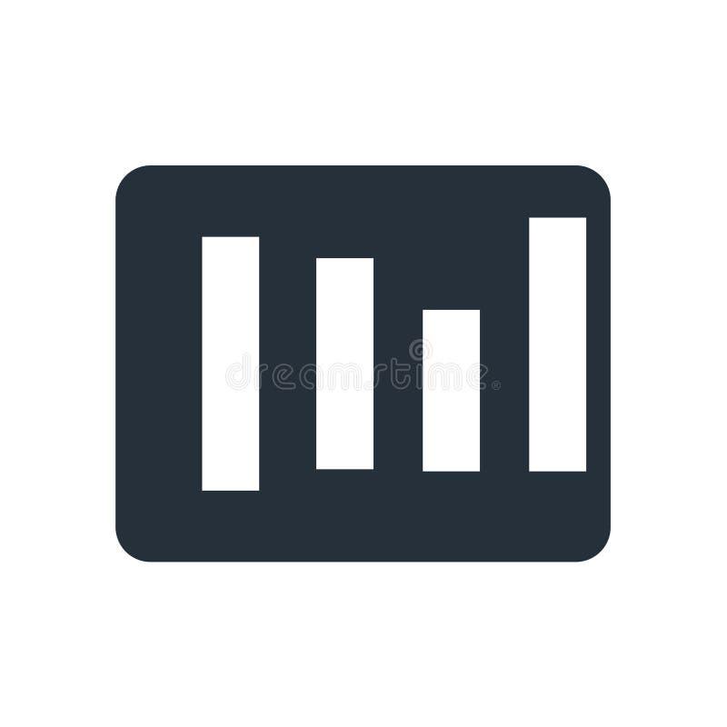 Les coins arrondis ajustent le signe et le symbole de vecteur d'icône d'isolement sur le fond blanc, concept carré de logo de coi illustration stock