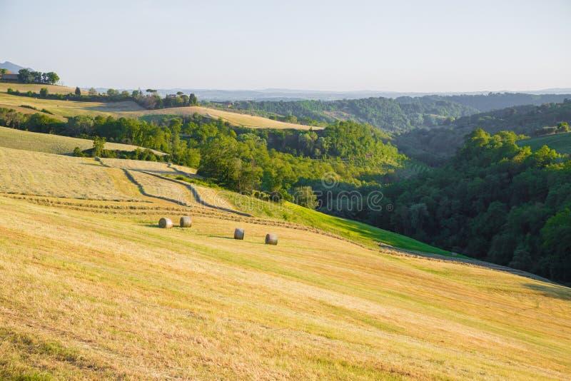 Les collines de Magliano Sabina Le Latium L'Italie photos libres de droits