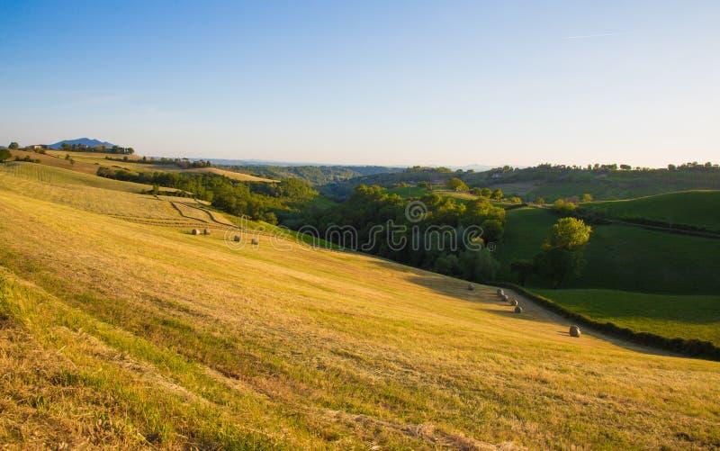 Les collines de Magliano Sabina Le Latium L'Italie photo stock