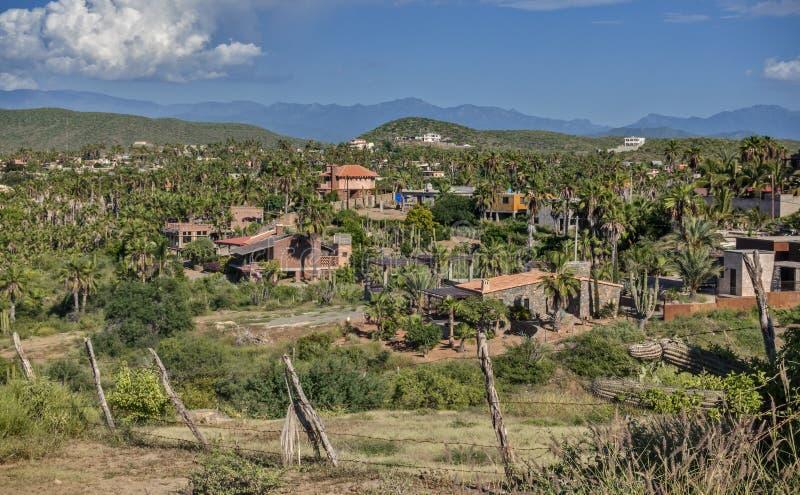 Les collines de Todos Santos, Mexique comme vu d'en haut image libre de droits