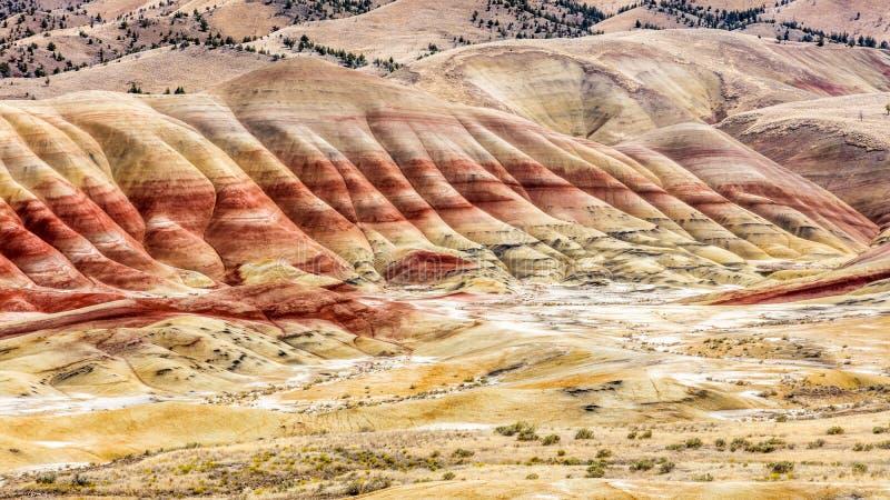 Les collines peintes de John Day Fossil Beds image stock
