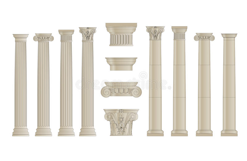 Les colonnes ont placé 1 illustration stock