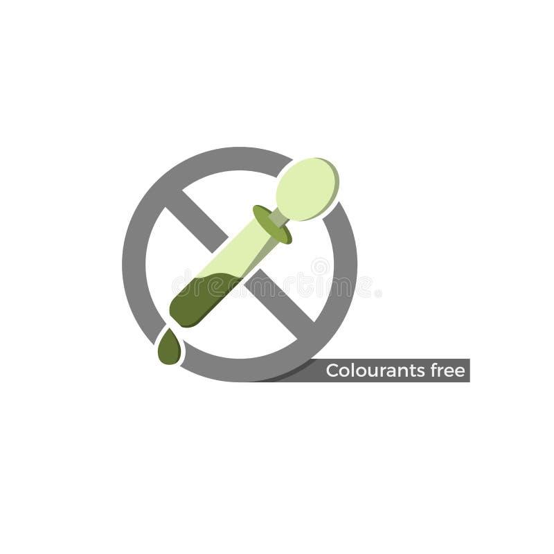Les colorants libèrent le label illustration libre de droits