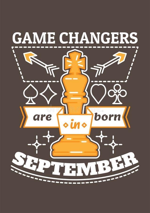 Les commutateurs de jeu sont nés en septembre illustration libre de droits