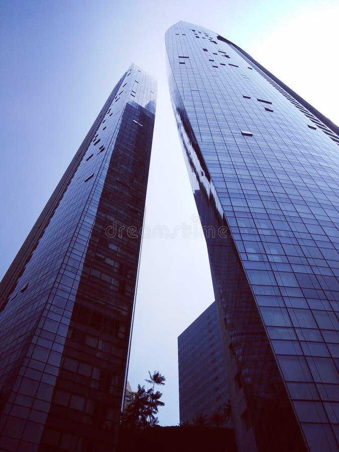 Les condominiums de voile à Singapour photographie stock