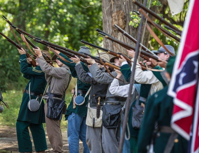 Les confédérés préparent image stock