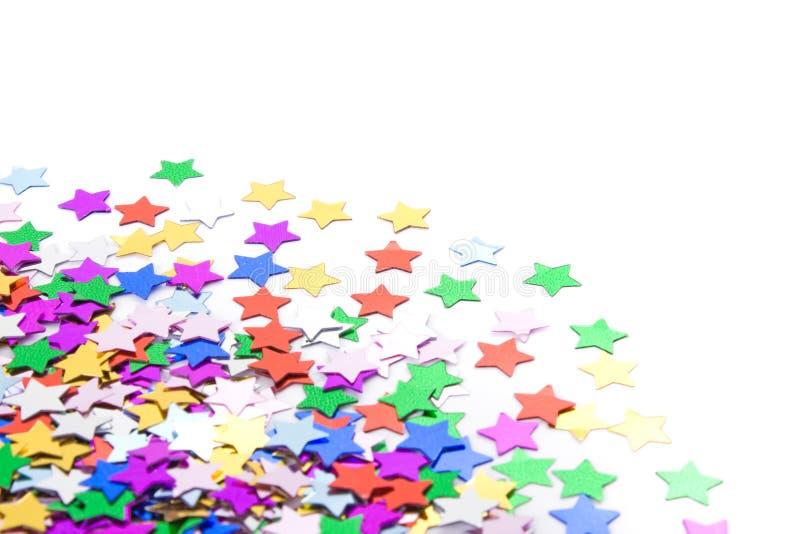 les confettis de fond ont effectué photo stock