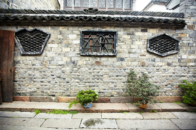 Les constructions antiques chinoises de ville images stock