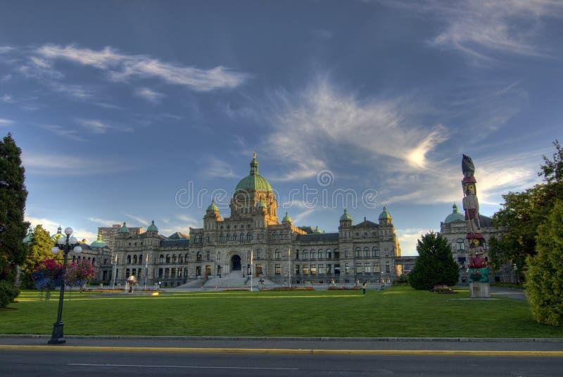 Les constructions du Parlement de Colombie-Britannique images libres de droits