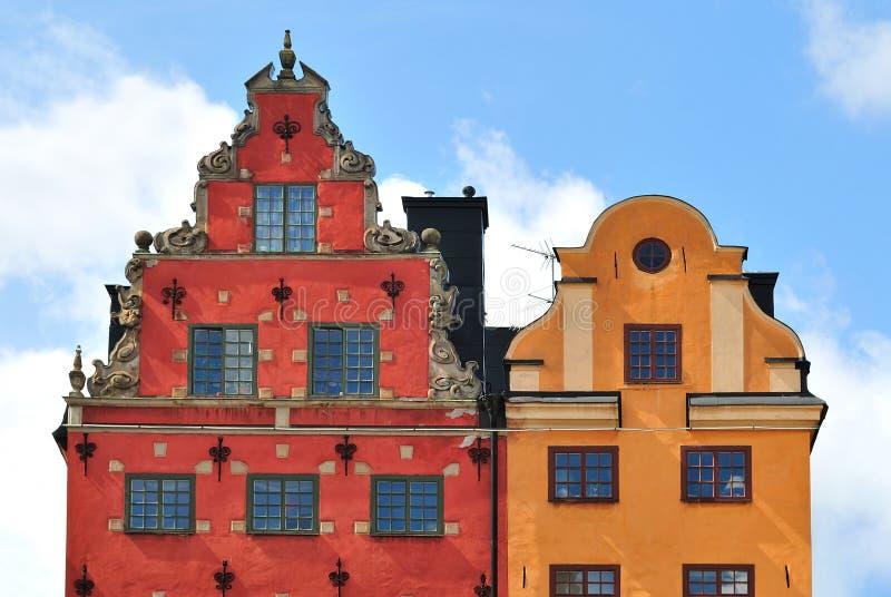 Les constructions les plus anciennes à Stockholm photo stock