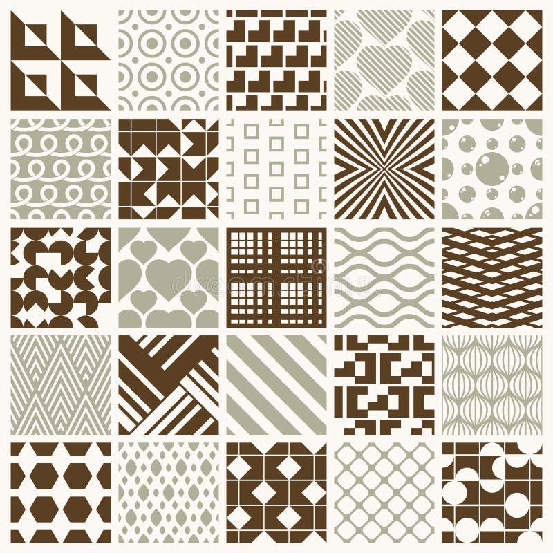Les contextes sans couture ornementaux de vecteur ont placé, col géométrique de modèles illustration stock