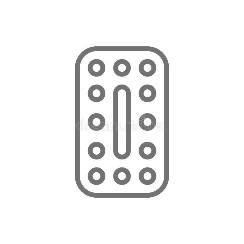 Les contraceptifs oraux, pilules hormonales, les comprimés contraceptifs rayent l'icône illustration de vecteur