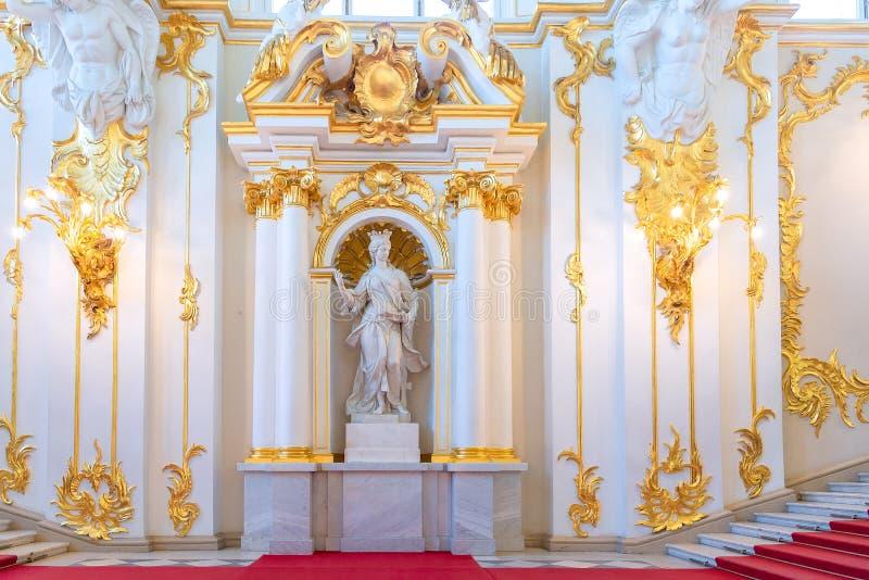 Les coordonnées intérieures de Jordan Staircase du palais d'hiver dans l'ermitage d'état photo libre de droits