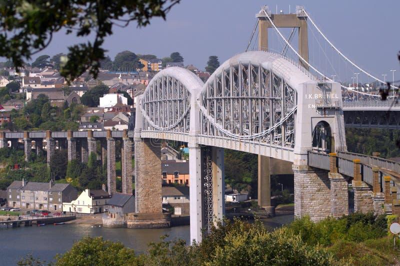 Les Cornouailles, pont en rail de Brunels photos stock