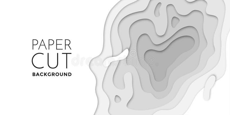 les couches du papercut 3D, papier ont coupé le calibre de site Web de texture de bannière de fond d'art de vecteur illustration de vecteur