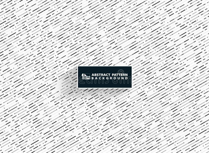 Les couleurs blanches grises noires de résumé barrent des lignes modèle de technologie décorant le fond Vous pouvez employer pour illustration de vecteur