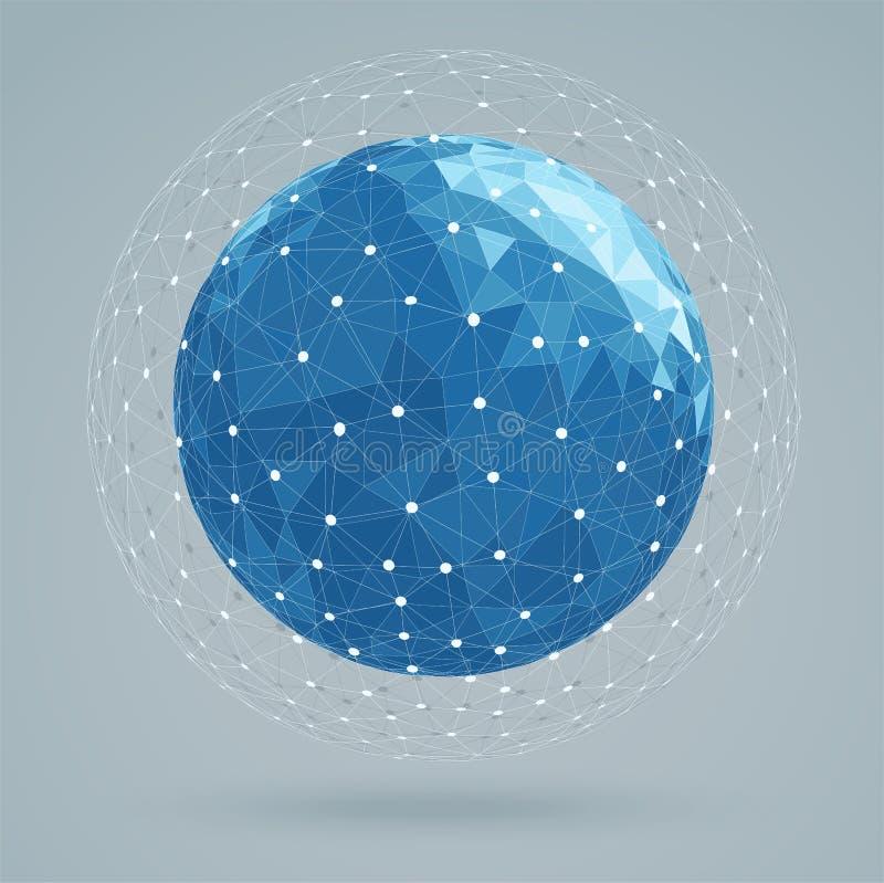 Les couleurs bleues de structure abstraite géométrique, engrènent la couleur blanche illustration stock