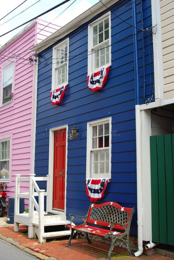Les couleurs d'Annapolis images libres de droits
