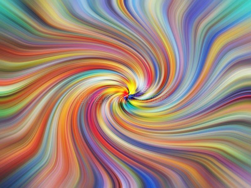 Les couleurs de calibre tourbillonnent des couleurs de tourbillonnement d'arc-en-ciel de fond tordant la torsion illustration libre de droits