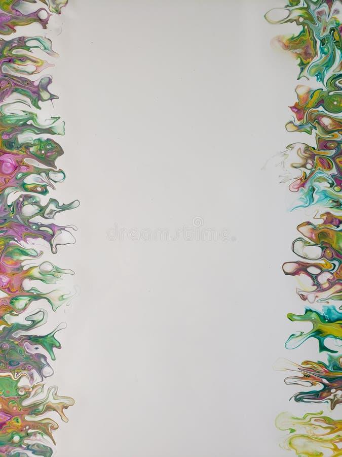 Les couleurs de danse soustraient l'acrylique versent la peinture image libre de droits