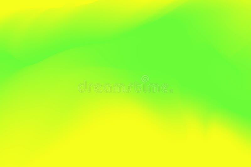 Les couleurs en pastel vertes et jaunes brouillées ondulent doucement l'effet coloré pour l'abrégé sur fond, gradient d'illustrat illustration de vecteur