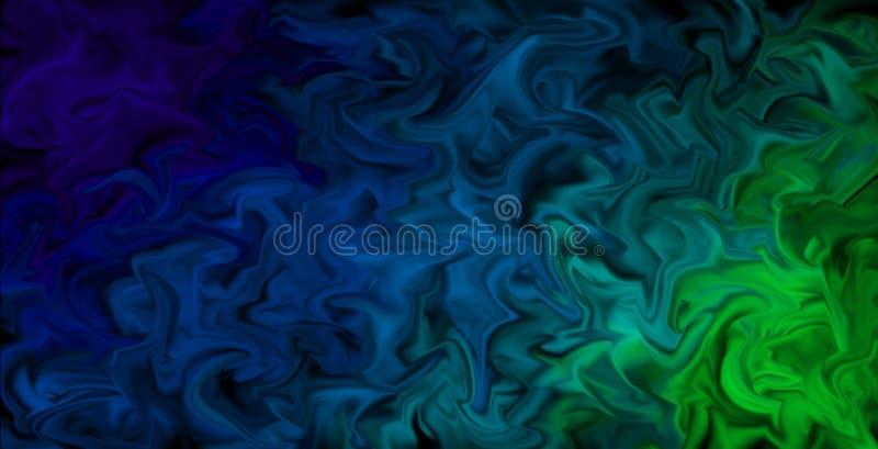 Les couleurs enduites de palpitation Wallpaper - le fond artistique abstrait, couleurs dans le mouvement illustration stock