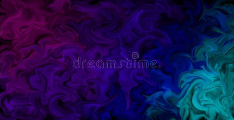 Les couleurs enduites de palpitation Wallpaper - le fond artistique abstrait, couleurs dans le mouvement illustration libre de droits