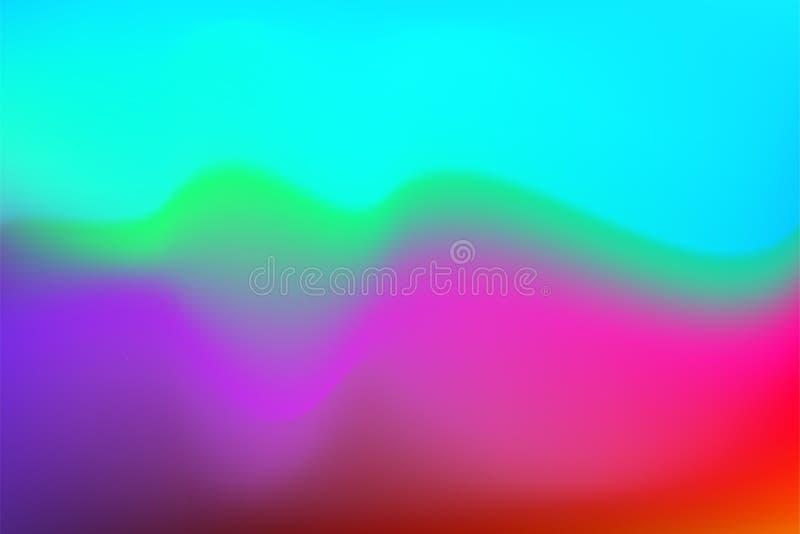 Les couleurs liquides de gradient de couleur de fond d'écoulement abstrait d'aquarelle mélangent l'effet de vecteur de transition illustration de vecteur