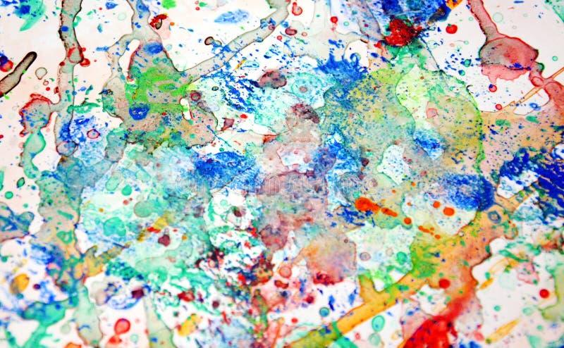 Les couleurs, peignant éclabousse, fond en pastel coloré, texture colorée de résumé photo stock