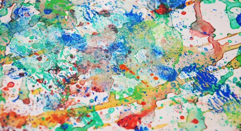 Les couleurs, peignant éclabousse, fond en pastel vif coloré, texture colorée de résumé images libres de droits