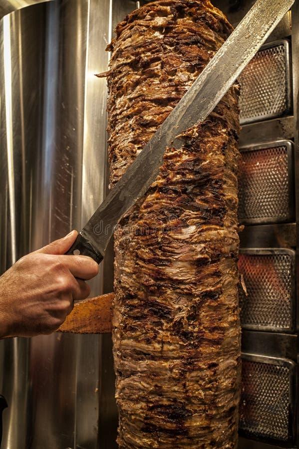 Les coupes de viande ont préparé Shawarma photographie stock libre de droits