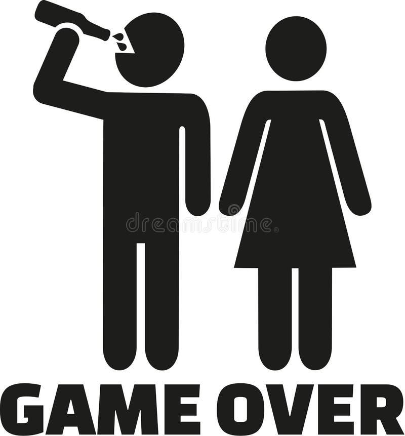 Les couples équipent le boire - jeu plus de illustration de vecteur