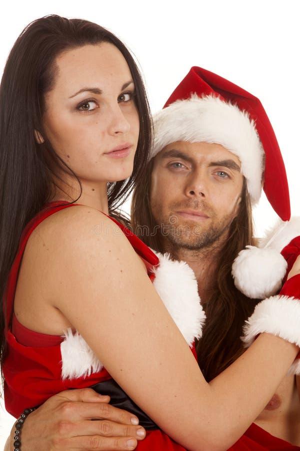 Les couples de Santa se reposent sur la fin de recouvrement photo stock