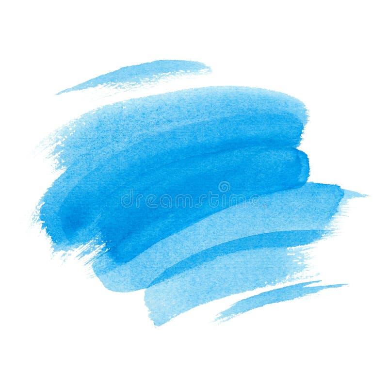 Les courses abstraites de brosse d'aquarelle ont peint le fond Donnez au papier une consistance rugueuse illustration de vecteur