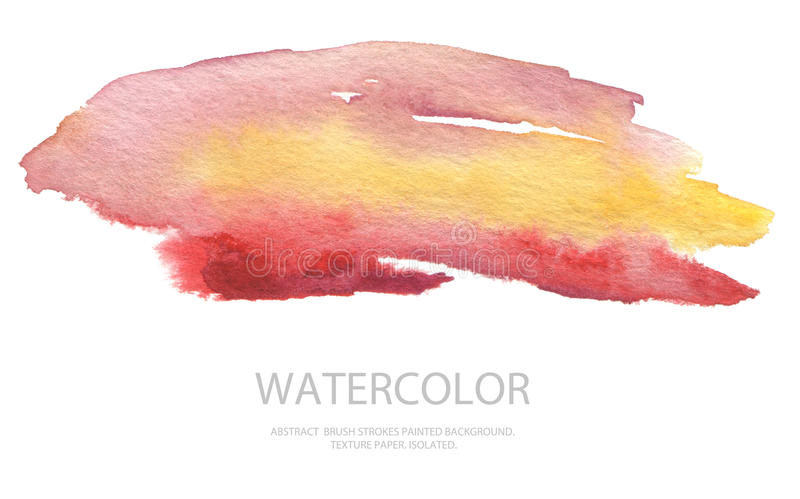 Les courses abstraites de brosse d'aquarelle ont peint le fond PA de texture images stock