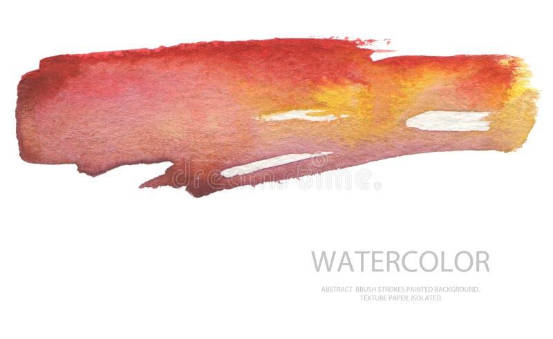 Les courses abstraites de brosse d'aquarelle ont peint le fond PA de texture image stock