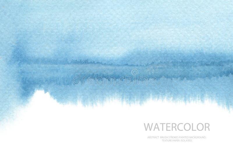 Les courses abstraites de brosse d'aquarelle ont peint le fond PA de texture photo libre de droits