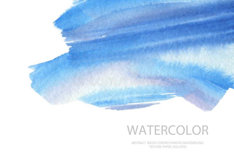 Les courses abstraites de brosse d'aquarelle ont peint le fond PA de texture photographie stock libre de droits