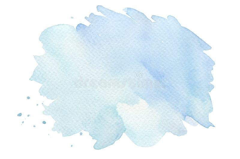 Les courses abstraites de brosse d'aquarelle ont peint le fond PA de texture photos libres de droits